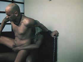 Exotic black tranny assfucks bald bloke and jizzes