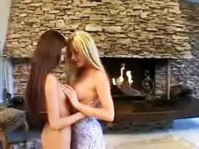 Longhaired blond shemale intense nailing exotic girl