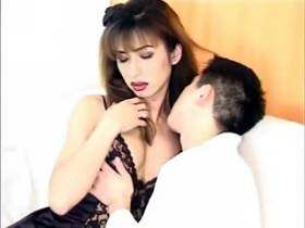 Asian shemale lady improving her skills at blowjob